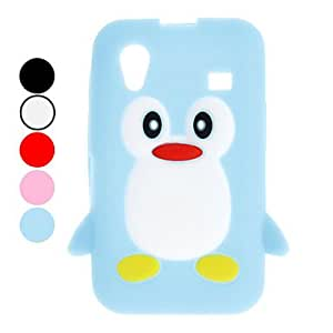 Lovely Penguin Design Soft Case for Samsung Galaxy Ace S5830 (Assorted Colors) --- COLOR:Blue