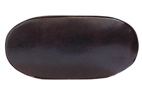 Borsa a spalla in vera pelle stampata colore cognac
