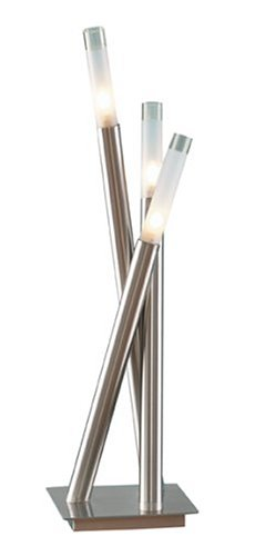 LSH-Icicle TBL Icicle Contemporary Chrome Table - Lamp Modern Lumisource Floor