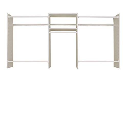 Easy Track 4'-8' Basic Starter Kit Closet Storage, White