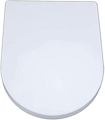 S優雅な便座小さな正方形U普遍的なトイレふたとミュートスロートップマウント超耐性便座カバー、ホワイト-40〜44 cm * 33.5 cm