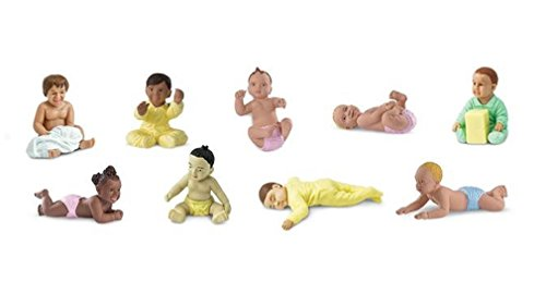 Safari Ltd Bundles of Babies TOOB Comes with 9 Different Babies in Active Poses Quality Construction, BPA Free For Ages 3 and Up