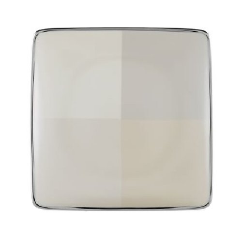 - Lenox Ivory Frost Platinum Banded Ivory China Square Accent Plate
