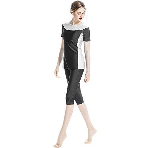 Baronhong Corto Bagno Sportivi Stampato Burkini Nero Costumi Donna Da Elegante Modesti Tankini 6BUg6wxrq