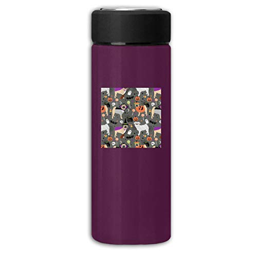 (Pug Halloween Costume Fabric High-Grade Thermos Large Capacity Stainless Steel Vacuum Flask Unisex Hot Water)