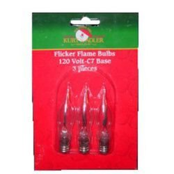 Kurt Adler C7 Flicker Flame Replacement Bulbs For UL0702 and UL0740 - 3 -