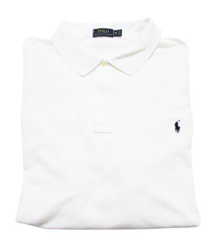 Ralph Lauren Men's Big and Tall Interlock Polo Shirt, Pony Logo, Classic Fit. (White, 3XB) ()