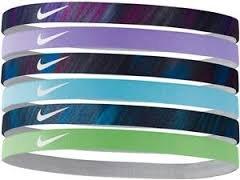 Nike Printed Assorted Headbands - 6-Pack, Fashion Assortment (Purple/Blue/Greens) NJN65961