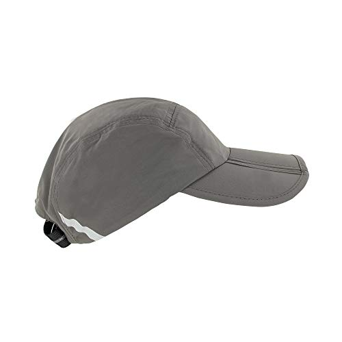 FitKicks Folding Sun Cap,Gray,One Size