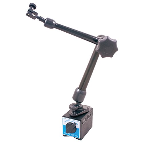 "HHIP 4401-0532 Pull Magnetic Base with Fine Adjust on Top of Base, 6.5"" Reach"
