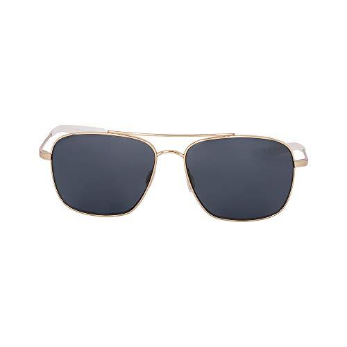 (Costa Del Mar Canaveral Sunglasses Shiny Gold Frame/Gray 580 Plastic, One Size)