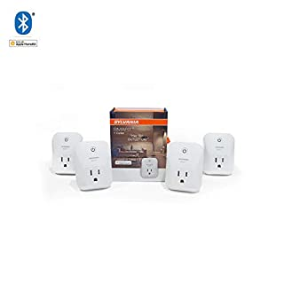 SYLVANIA General Lighting 70741 SYLVANIA 74582 + Bluetooth Smart Plug, Works with Apple Homekit and Siri Voice Control, No Hub Required for Set up, 4 Pack, Outlet