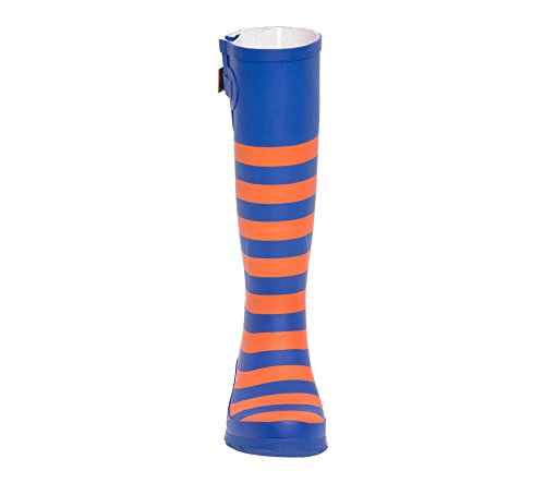 B Blue Royal U Lillybee and Rainboots Orange Initial 107UZRqpwP