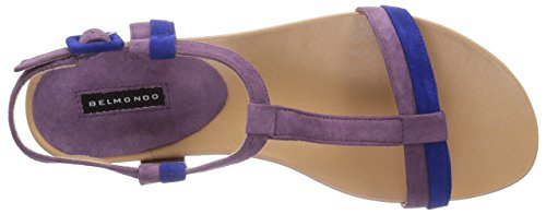Belmondo 70312103 - Sandalias de vestir de cuero para mujer azul - Blau (aqua combi)