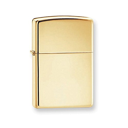 Zippo Solid Brass Plain High Polish Brass Lighter