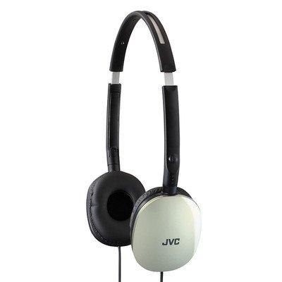 White JVC Flats Lightweight Headband Headphones ( 30 PACK ) BY NETCNA
