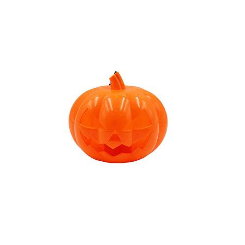 lightclub Halloween Pumpkin LED Lamp Jack O Lantern Scream Flash Handheld Kids Light Toy 1#