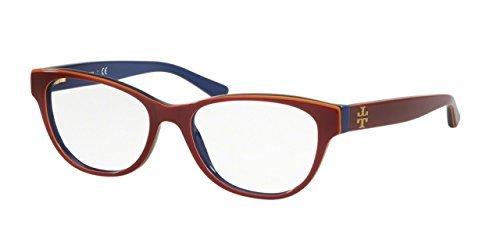 Tory Burch TY2065 Eyeglass Frames 1599-51 - Burgundy/Orange/Navy ...