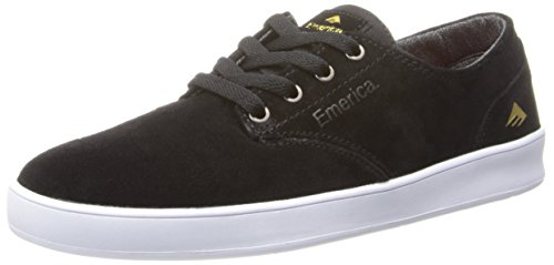 Emerica Men's The Romero Laced Skateboard Shoe, Black/White, 11 M US - Reynolds Skateboard Shoe