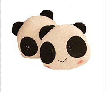starworld 2 piezas cojín almohada con dibujos animados Cute Panda de peluche, para Auto asiento