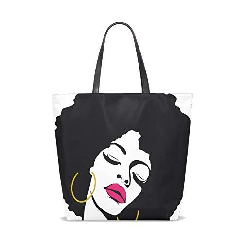 Tote Tracolla Hair donna 001 Pop Taglia Bennigiry Art Hippie unica Woman Afro per gdE6x6SUwq