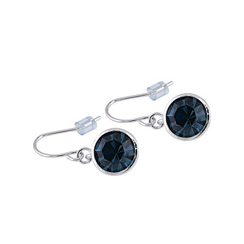 UPSERA Drop Dangle Earrings Made with Swarovski Crystals - Jewelry for Women Girls - Blue Montana