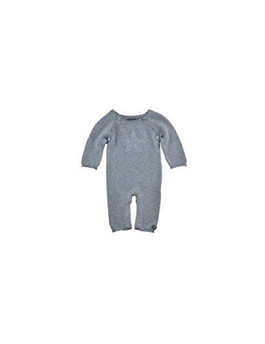 Bellybutton Kids Unisex - Baby Spieler Overall Strick 1/1 Arm, Einfarbig, Gr. 56, Grau (asphalt melange 8882)