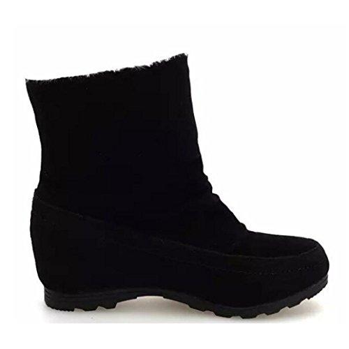 ESAILQ Boots Women Fashion Ankle Boots Warm Comfortable Faux Suede Flat Shoes HQt5ruRLr