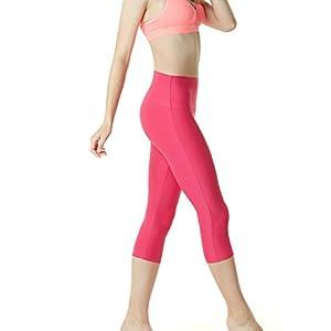 "TM-FYP32-MGT_Small Tesla Women's Yoga 21""Capri High-Waist Tummy Control Pants w Pocket FYP32 …"