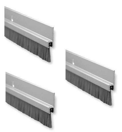 Pemko Aluminum and Nylon Door Bristle Weatherstrip, Clear Anodized, 1/4