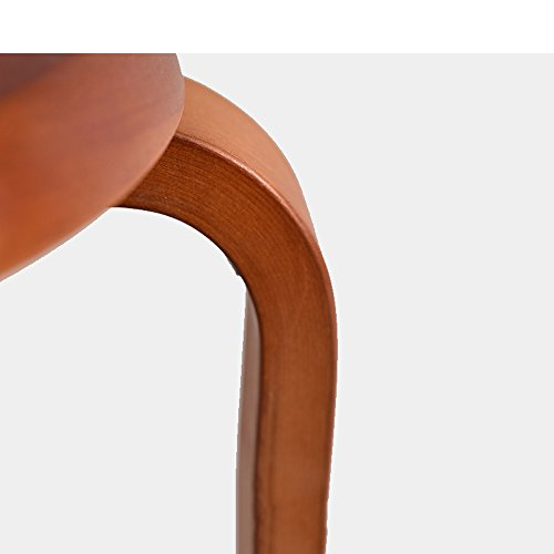 Solid wood stools, creative dining stools, fashion benches, home table and stools, low stools, round stools, multicolor options, easy installation, convenient stacking, D: 31cm, H: 45cm (Color : B) by PM-Stools (Image #8)