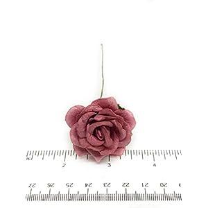 "1.5"" Mauve Paper Flowers, Mulberry Paper Flowers, Mulberry Paper Roses, DIY Wedding, Flower Backdrop, Blush Wedding, DIY Wedding Favors, 12 Pieces 9"