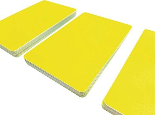 Premium Plastikkarten | PVC Karten GELB LEUCHTEND | 1-100 Stück | Blanko Rohlinge | NEU! (1)