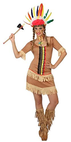 Ladies Native American Indian Squaw Scout Wild West Cowboys & Indians Carnival Hen Night Fancy Dress Costume Outfit UK 8-18 (UK 12-14)