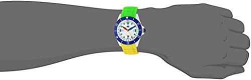 40Nine Japanese-Quartz Watch with Silicone Strap, Green, 21.3 Model 40NINE02 FUN30