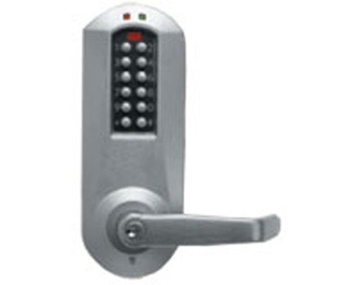 Kaba E5731XSWL-626-41 E-Plex Cylindrical Pushbutton Lock W/Prox Xs Ko 626, Satin Chrome