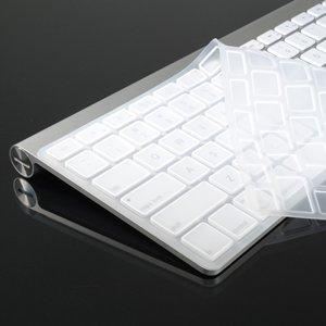 TopCase Silicone Cover Skin for Apple Wireless Keyboard with TopCase Mouse Pad (Apple Wireless Keyboard, SOUARE WHITE)