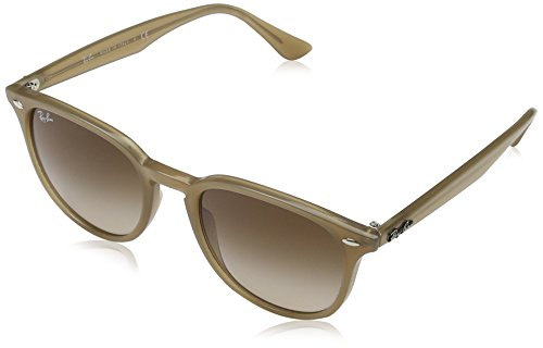Ray-Ban Injected Unisex Square Sunglasses, Shiny Opal Beige, 51 - Clubmaster Ray Beige Ban