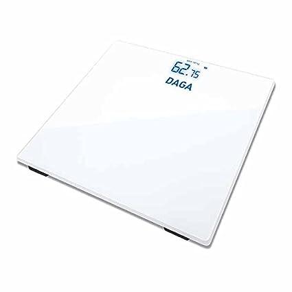 Daga BS-100- Báscula de Baño Digital con Pantalla Invisible LED y Diseño de