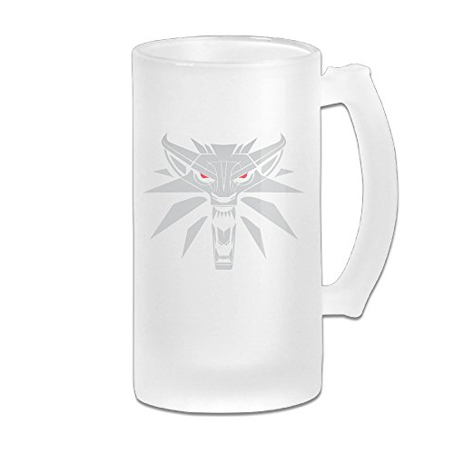 Handson Stainless Steel Vacuum Insulated Party Beer Mug Wolf Head Thermal Vacuum Cup White