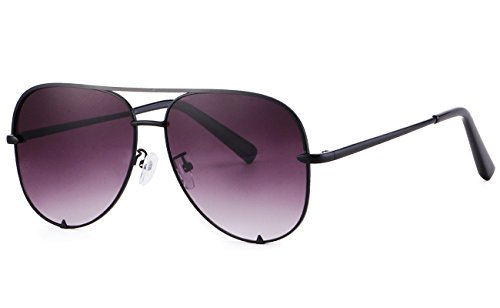 - Eyerno Mirrored Aviator Sunglasses For Men Women Fashion Designer UV400 Sun Glasses(Black/Grey)