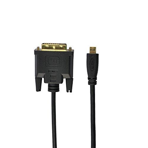 Seadream Micro HDMI Male to DVI(24+1) Male Cable Black (3.3 Feet) (Dvi To Micro Hdmi)