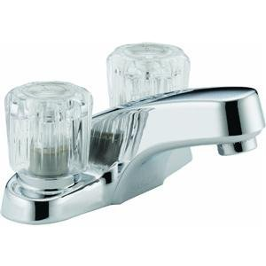 Peerless P299601LF Chrome Two Handle Lavatory Faucet With Acrylic Handles ()