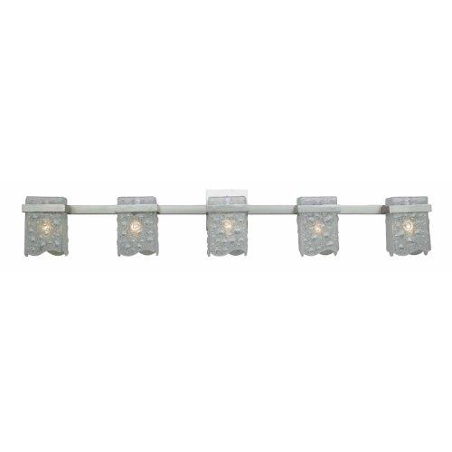 Triarch 23185 5 Light Arctic Ice Bathroom Bar Light, Satin Nickel - Triarch Lighting Bathroom Bars