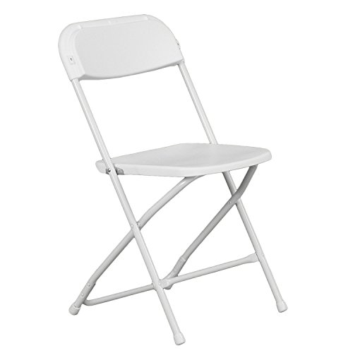 Hercules Premium Folding Chair, White - 20 Pack by Flash Furniture