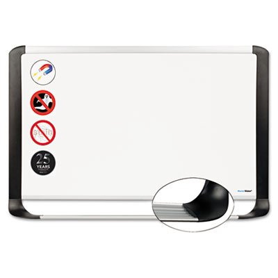 MasterVision Magnetic Platinum Dry Erase Board, 2' x 3', Whiteboard with Aluminum/Black Frame (MVI030401) by MasterVision