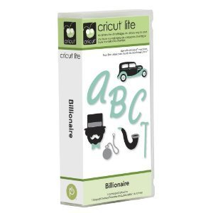 Cricut Lite 2000155 Billionaire Cartridge & Keypad Overlay
