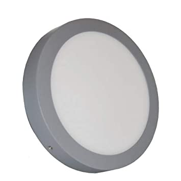 Alverlamp DL18PL60SAL - Downlight led superficie smd redondo 20w 6000k aluminio: Amazon.es: Bricolaje y herramientas