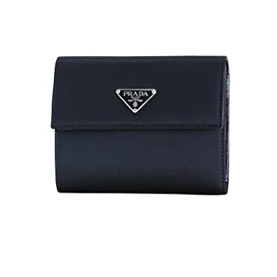 eecb8eff3a69 Amazon | PRADA プラダ 3つ折りナイロン財布 M523 ブラック[並行輸入品] | 財布
