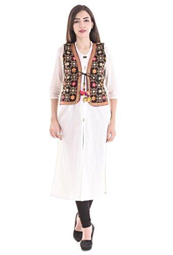 Flavia Creation Women's Kutch Embroidered Shrug/Navratri Special Gujarati Koti Jacket Assorted And Designs Medium Multi ()